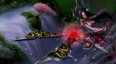 League of Legends: Irelia Wallpapers (Chinese + American) Cute Disney Wallpaper, Girl Wallpaper, Wallpaper Awesome, Pastel Wallpaper, League Of Legends Game, Chinese American, Painting People, Photos, Sketches