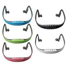 S, Sport Wireless Headset Headphone Earphone MP3 Music Player Micro SD TF FM Rad