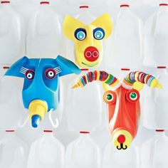 kids craft: jug heads... by audrey
