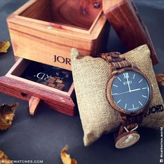Frankie - Zebrawood & Navy - Sophisticated Wood Watch by JORD