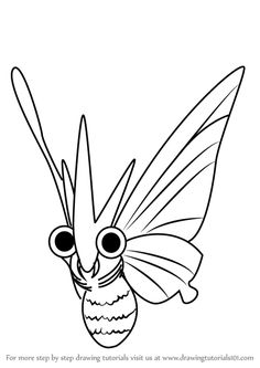 Learn How to Draw Venomoth from Pokemon GO (Pokemon GO) Step by Step : Drawing Tutorials Baby Pokemon, Pokemon Go, Learn Drawing, Learn To Draw, Step By Step Drawing, Drawing Tutorials, Drawings, Winter, Winter Time