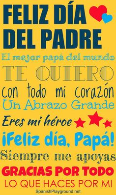 Easy to learn spanish poems for fathers day