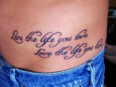 Hot Black Small Quote Tattoos for Girls - Stomach Small Quote Tattoos for Girls