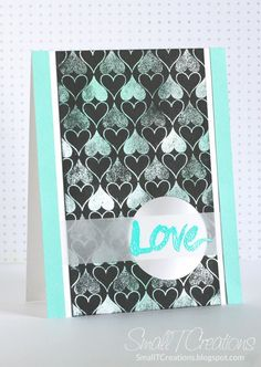 Masculine Love Card - Metallic On Black | Small T Creations