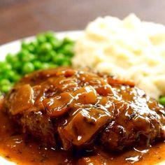 Salisbury Steak & Caramelized Onion Gravy | Food Recipes