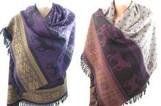 Blanket Scarf Nordic Scarf Deer Scarf Oversize by ScarfClub #blanketscarf #nordic #snowflake #deer #christmas