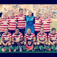 USA Women's Olympic Soccer team: London 2012. Bringing home the gold.