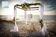 Beautiful chuppahon the beach. Jekyll Island Georgia Beach Weddings