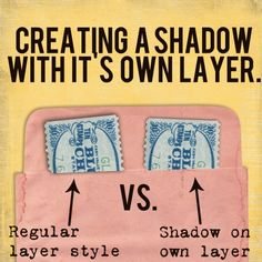 Creating a Shadow with It's Own Layer - The Daily Digi