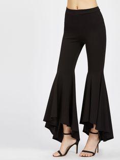 Shop Hi Lo Ruffle Hem Pants online. SHEIN offers Hi Lo Ruffle Hem Pants & more to fit your fashionable needs. Fashion Pants, Fashion Clothes, Fashion Dresses, Fashion Fashion, Fashion Ideas, Vintage Fashion, Fashion Trends, Ruffle Pants, Skirt Pants