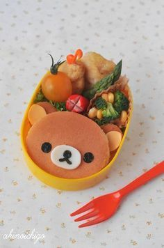 Rilakkuma pancake  #Bento #Lunch #Kids