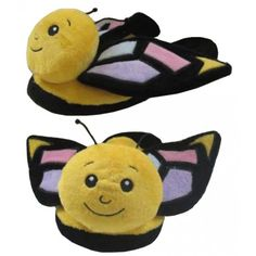 Yellow Butterfly Animal Slippers