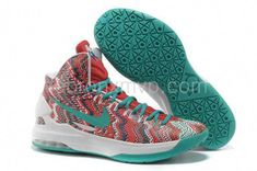 0c982174053f Kevin Durant 5 Surf Style Gradient Red Neon Green Yellow Shoes ...