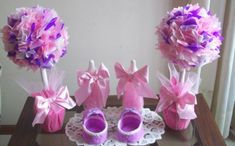 Beautiful Pink and Purple Baby Shower Decorations Ideas | Baby ...