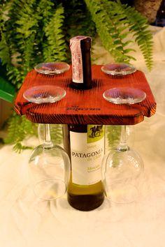 Держатель для 4 бокалов Wine Party. Купить в Украине можно в мастерской оригинальных изделий из дерева Beaver's Craft. Деревянная мебель, аксессуары, декор для дома, для бара, ресторана, принадлежности для пикника - 257448094