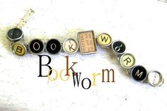 Love! Vintage typewriter key bracelet.