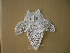 crochet doilie owl = everything I love.