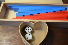 Add some dice to the Montessori Addition Strip board for a fun extension.