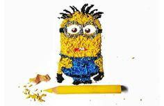 Artista cria criativas e belas ilustrações com lascas de lápis de cor