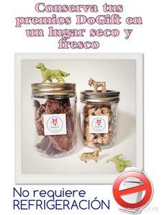Consigue un lindo frasco para tus DoGift y listo! #premialosanamente #nutricioncanina #organictreats