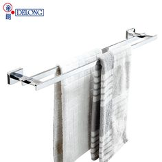 (141.46$)  Watch more here - http://aio42.worlditems.win/all/product.php?id=32798466556 - DELONG bathroom solid copper bracelet double bars towel rack bathroom hardware wall wall hanging 2630-B