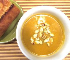 Healthy Pumpkin Spice Soup #recipe #healthy #Fall #Autumn #cooking #comfort