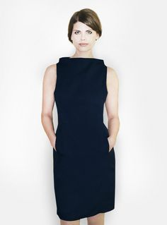 dunkelblaues Etuikleid // dark blue shift dress by femkit via DaWanda.com