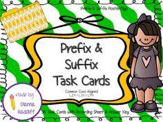 Prefix and Suffix Task Cards (Common Core Aligned)