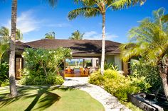 Sunset, ocean and Maui views from this home situated on the 7th golf hole of the short course.