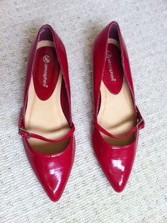 Women's Primark Red Patent Flat/Low Heel Shoes - Size 3 - Only Worn Once | eBay