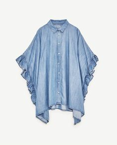 Zara is having a huge sale right now — here are the best things to buy Iranian Women Fashion, Muslim Fashion, Hijab Fashion, Fashion Outfits, Over 50 Womens Fashion, Womens Fashion Online, Latest Fashion For Women, Zara, Frill Shirt