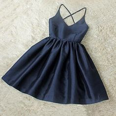 Adorable High Quality Navy Blue V-n..