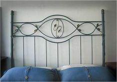Hermosa modelo de camas en Hierro Forjado para que nuestra imaginación vuele alto en el momento de fabricar alguna con estilo propio ...