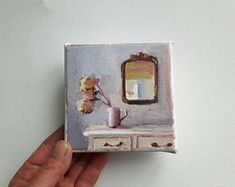 Image result for paintings on tiny canvas