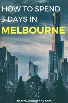 3 days in Melbourne is a short length of time to see everythin in this beautiful city, but you can do a lot in that time. There are plenty of things to do in Melbourne such as visit the MCG, check out Flinders Street Station and the Southbank. Melbourne is one the best places to visit in Australia and with so much to do, this 3 day itinerary of Melbourne is full of great ideas! Click now for more info! #Melbourne #AustraliaTravel #Travel #SeeAustralia