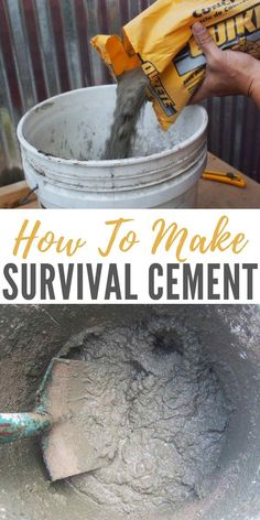 How To Make Cement - Survival cement has been used throughout history in countless ways. It is simple to make, the ingredients are easy to come by and it is one of the most durable resources available in a primitive situation. Homestead Survival, Survival Food, Wilderness Survival, Camping Survival, Outdoor Survival, Survival Knife, Survival Prepping, Emergency Preparedness, Survival Skills