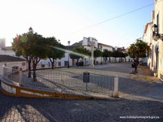 Nice square in Avis Winter in Alentejo
