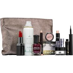 Sephora Favorites Glitz & Glam Party Essentials Sampler (59 CAD) ❤ liked on Polyvore featuring beauty products, makeup, eye makeup and sephora collection