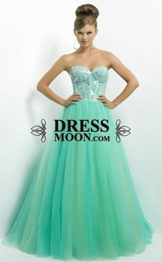 Ball Gown Sweetheart Tulle with Sequins Long Prom Dress (not this colour)