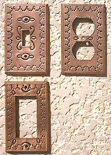 Punched Tin Switchplates Outlet Covers - Copper