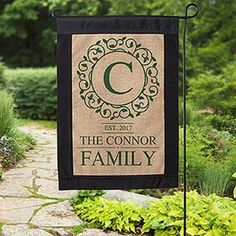 This Personalized Burlap Garden Flag is BEAUTIFUL! I love that you can choose any color and personalize it with any message! This will look so pretty outside the house! Great housewarming gift idea too!