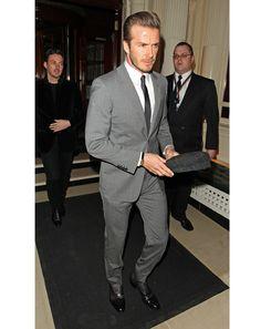 Classic slim gray suit