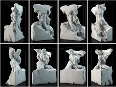 Computer-generated Sculptures Honor Michelangelo's Unfinished Works Michelangelo Sculpture, Creators Project, Italian Renaissance, Sound Design, Art Festival, Best Artist, Abstract Landscape, Installation Art, Contemporary Artists