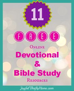 Free resources for bible studies and devotionals.
