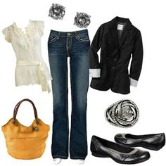 Denim and Diamonds social outfit