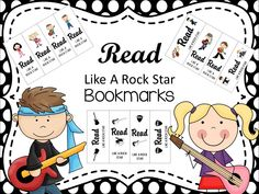 Read Like A Rock Star bookmarks Library Themes, Library Displays, Rock Star Theme, Reading Incentives, Reading Day, Like A Rock, My Bookmarks, Star Logo, Classroom Themes
