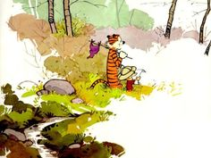 I grew up reading several comic strips. Despite it last only 10+ years, Calvin & Hobbes remains my favorite of all time. GoComics.com continues to rerun these comic strips daily and the books are still available to buy at many bookstores today.