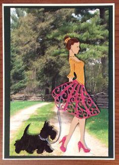 Walking Scottie, Tattered Lace magazine 35