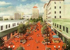 Fulton Mall. Fresno, California.