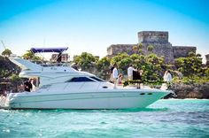 Private Luxury Boat Tour Spend some hours relaxing, swimming and snorkelingin the beautiful waters of Puerto Aventuras. Drinks and a light meal will be served on board.You willcruise out of the Puerto Aventuras Marina and head north for about an hour to the sheltered In Ha reef where calm, crystal clear water offers you a great spot to snorkel with turtles and colorful, tropical fish while your on board bartender serves snacks, Mexican beer, bottled water, and other refreshm...